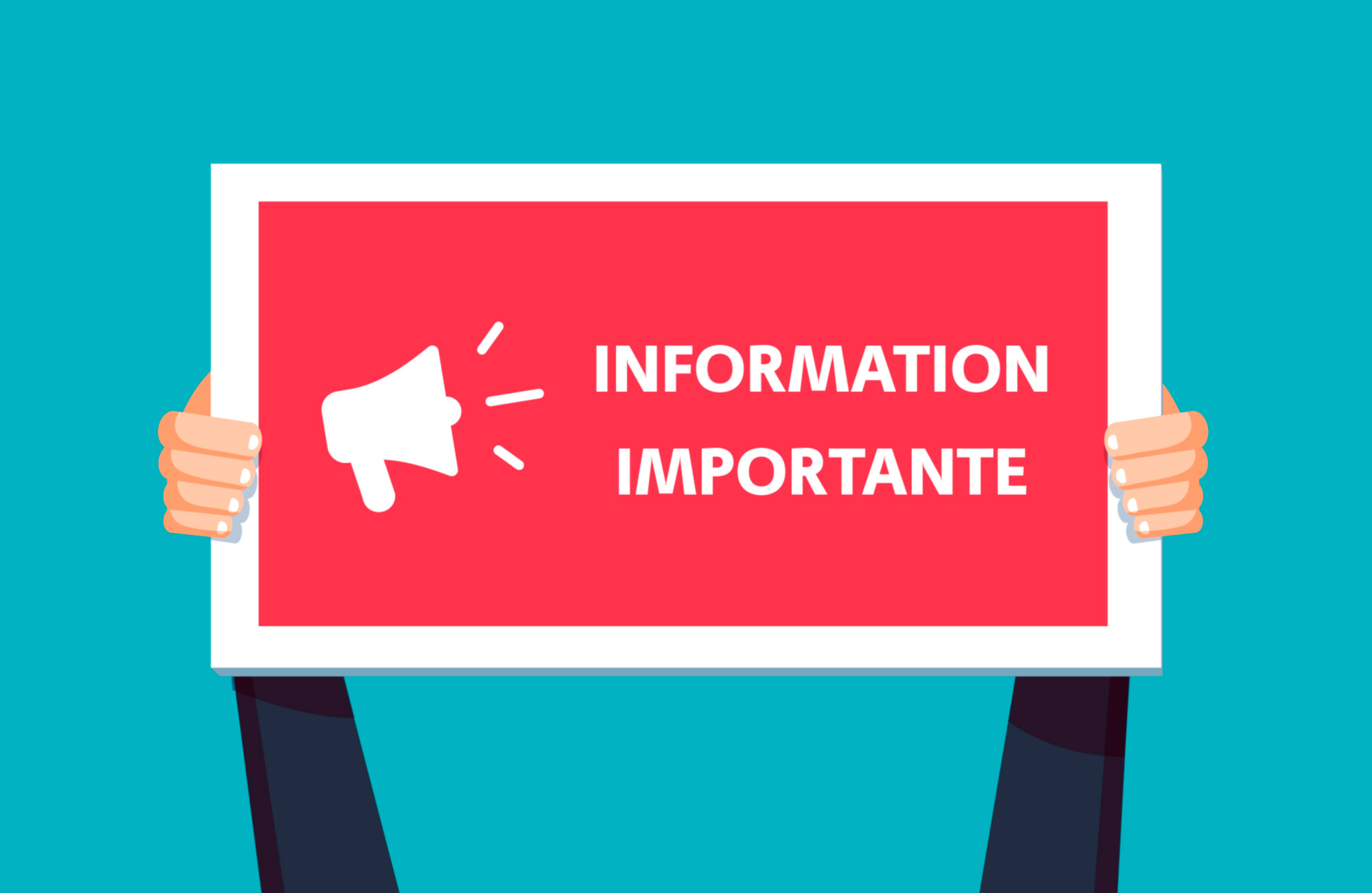 Information importante - annulation report